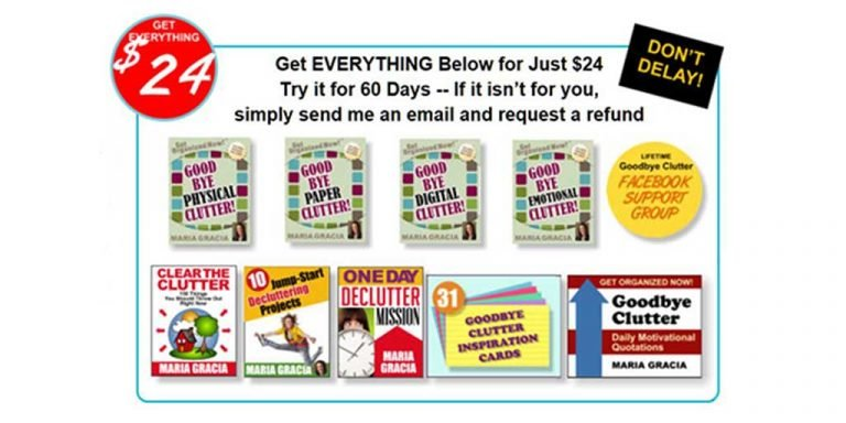 Clear your clutter the fast and easy way – Goodbye Clutter by Maria Gracia