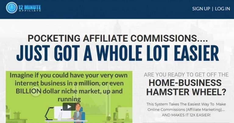 12 Minute Affiliate Review Make Money Online