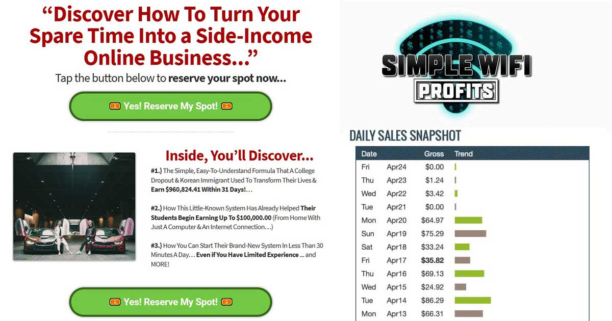 Simple Wifi Profits Review – A Good Affiliate Marketing Training?