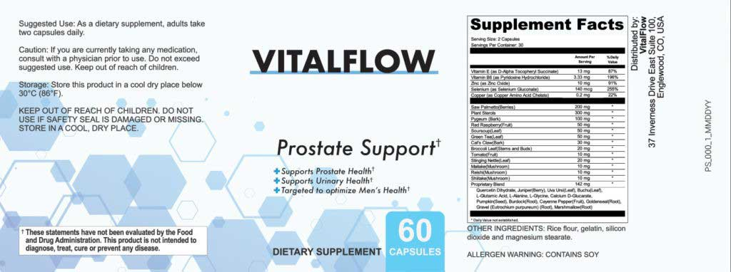 VitalFlow Pills Key Ingredients VitalFlow Review - Prostate Support Supplement Latest Report
