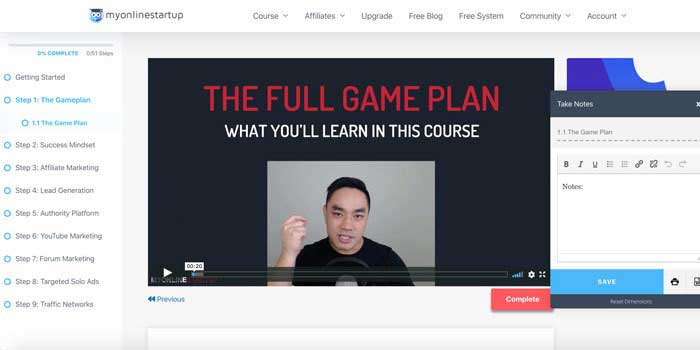 BEST Free Affiliate Marketing Training: My Online Startup Review
